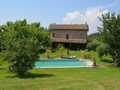 Photo for Beautiful villa with pool, stunning views, Lazio Umbria border, air/con, x 9