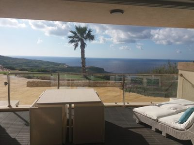 Photo for Mediterranean sea view Apartment with communal pool.