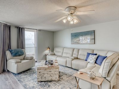Photo for Beach front condo w/ beautiful Gulf views, shared pool/hot tub, & large balcony!