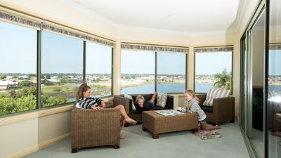 Laze around in the warm sunroom and enjoy the breathtaking view.