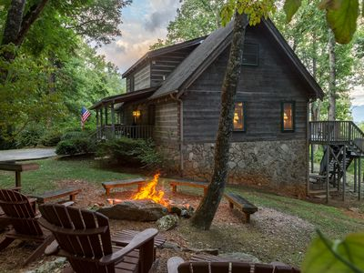 Photo for 4 Bedroom Log Cabin w/ Pool Table, Views, Fire Pit, and Wi-Fi