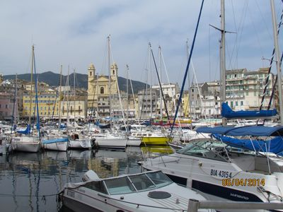 Photo for rental for holidays with breathtaking views of the old port of Bastia