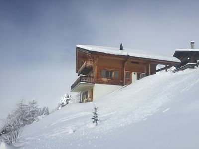 Photo for Luxurious 5 bedroom family cottage in Les Crosets - ski in / ski out