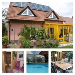 Photo for Holiday house with pool hall / sauna, family u. tierfreundl. 10 pers., Winter Garden