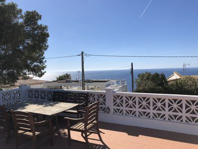 Photo for Oceanside villa overlooking the Med
