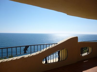 Photo for 2 bedroom apartment seafront wiht spectacular seaview, for rent in Port la Galere near Cannes