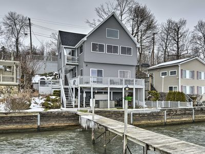 Photo for Waterfront Home w/Hot Tub + Kayaks + Dock!