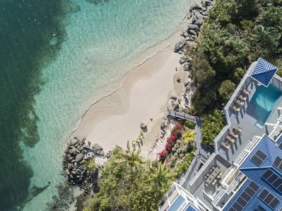 aerial view of your own beachfront paradise