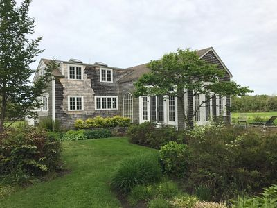 Sakonnet Point home with beautiful gardens and views, and walk to  beach