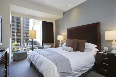 Master bedroom suite with TV, Broadway view.