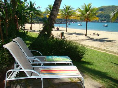 Photo for House on the sand beach, 4 bedrooms, spectacular view, Portogalo, Angra dos Rei