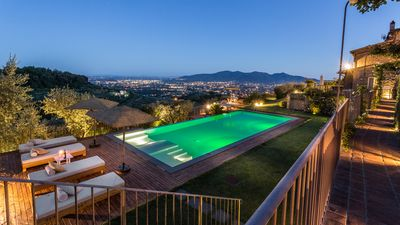 Photo for LA MACINA FARMHOUSE: A Breathtaking Infinity Pool with View Over LUCCA and Hills