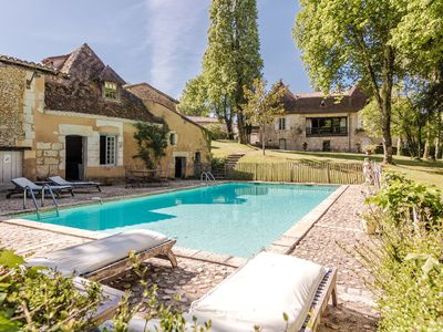 Photo for Impressive luxury villa on a large private estate with pool and tennis court.