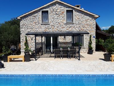 Photo for Private Istrian Stone House and Pool with 4 bedrooms close to the sea