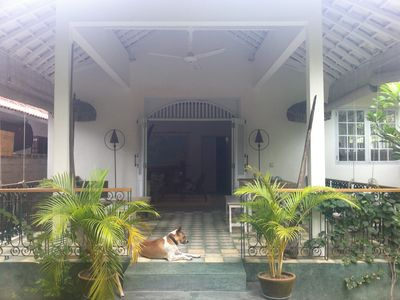 Photo for Lovely villa one minute to the beach, stylish and with a nice garden