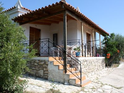 Photo for Holiday house amid olive groves, sea view, wifi | Messenia, Peloponnese