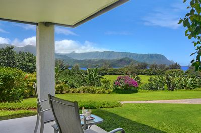 Your Bali Hai and ocean view from the private, walk-out bedroom lanai!