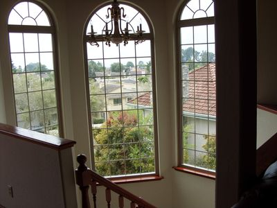 Bay Windows by top of the staircase