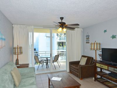 Photo for Welcoming Sunrise Suites condo w/ balcony views, pool/hot tub- dog-friendly