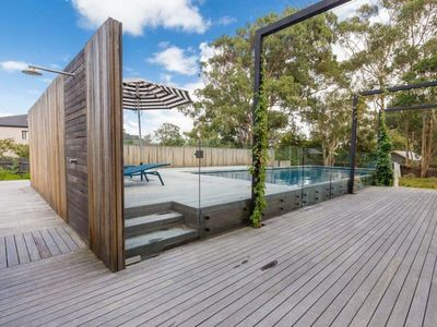 Photo for Somers beach house, water views, huge pool, metres from beach and general store