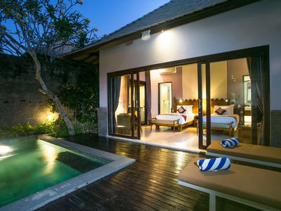 Photo for The cozy one bedroom villa with private pool, near Seminyak beach