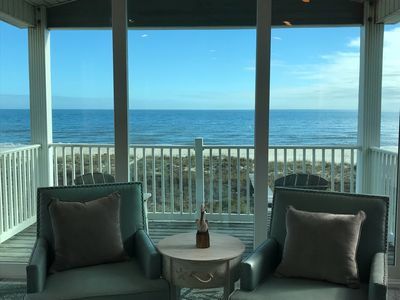 "Photo for LAST MINUTE SPECIAL-Beachfront Renovated Property With Arcade ""44 On the Shore"""