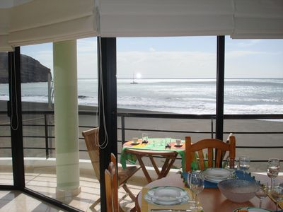 Photo for Sea Breeze Apartment beachfront with spectacular views