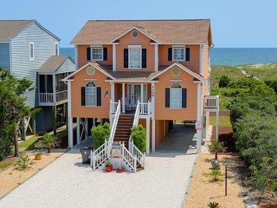 Photo for Oceanfront with 2 Oceanside Decks!