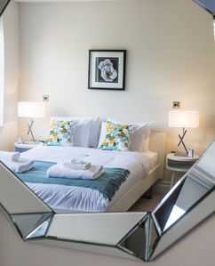 The room is decorated and finished in a modern style and to a very high standard