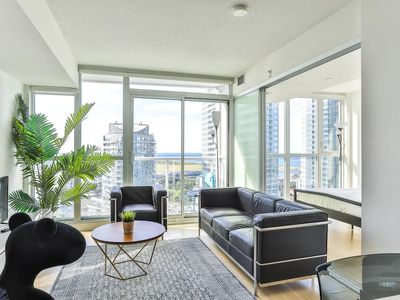 Photo for ⭐29th FLOOR ⭐2BEDS⭐ LAKEVIEW LUX CONDO⚡CN⚡SKYDOME