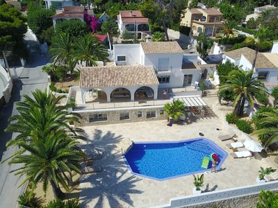 Photo for Wonderful luxury villa on the first line of the sea in Moraira with private pool