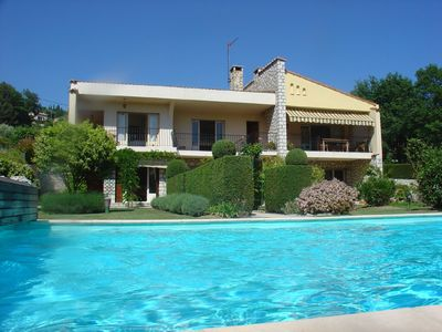 Photo for Villa with private pool, situated in historic Vence - Cote D'Azur