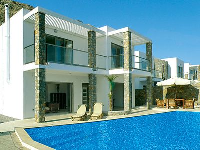Photo for Charming villa, stunning sea views,  short drive to Lindos and Pefkos, best of both worlds!