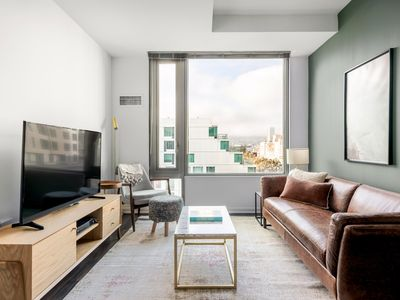 Photo for Lux SoMa 2BR w/ Gym, Roofdeck, nr. Muni BART, & Airbnb by Blueground