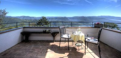 Photo for Cabin surrounded by greenery in the Monte Subasio Park - Panoramic Terrace