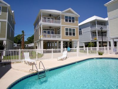 Photo for Caribbean Cove #520, 4 BR Luxury Beach Cottage in a Charming neighborhood w/ Outdoor Swimming Pool