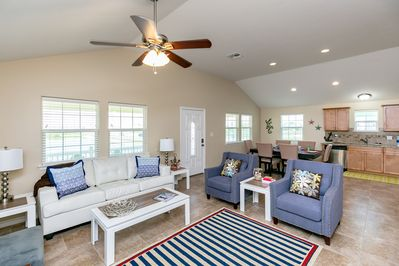 Living Room - Nautical flair and luxury appointments abound.