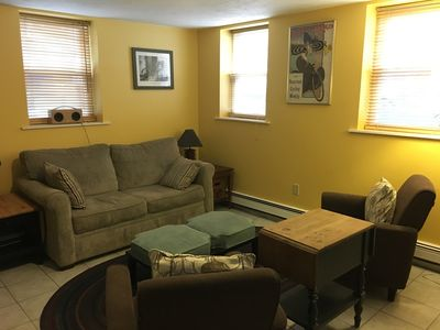 Living room with pullout couch