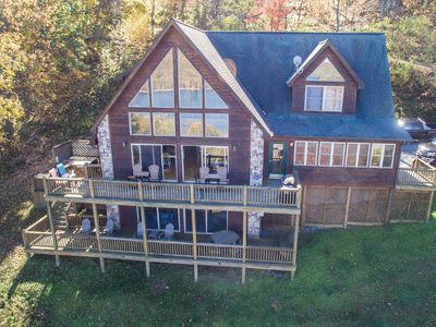 Photo for Breathtaking 6 Bedroom mountain home with exquisite lake & mountain views!