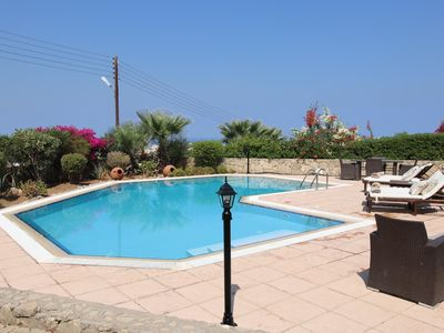 Photo for Bellapais Villa with private pool and Sea Views with interior designed finish