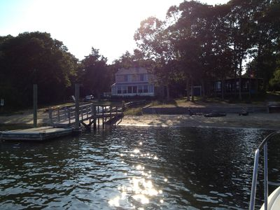 Photo for Waterfront 2 Story Colonial Home with beach and private boat dock