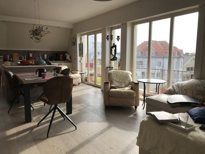 Photo for Large luxurious and south-facing apartement - 50 m from the beach of De Haan