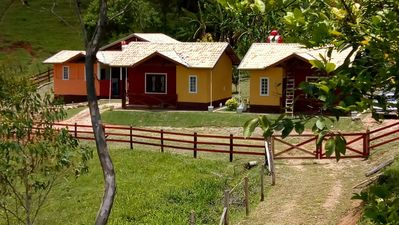 Photo for Chalet 3 - with bedroom, kitchen with microwave and refrigerator and bathroom with bath