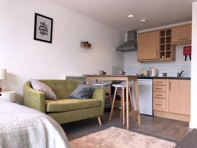 Photo for The Surf Studio – Newquay Apartment -5 minutes walk to beach with parking space
