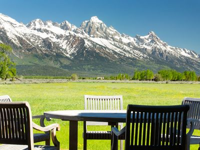 Photo for Spectacular Grand Teton Views and private hot tub! Grand Teton National Park.