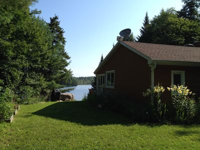 Photo for Beautiful lakefront cottage, 1 hour north of Montreal