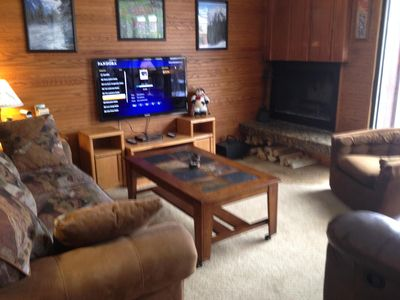 "46"" HDTV & DVD/CD with free Netflix & Pandora.  Free firewood for fireplace!"