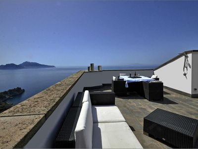 Photo for Luxury Saracen tower with enchanting sea view and outdoor Jacuzzi