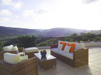 Photo for Luxury 3 Bedroomed Apartment, Wifi, Sky, Beautiful Views And Communal Pool