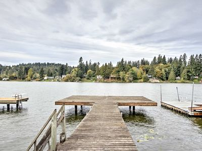 Photo for Lakefront Port Orchard Home w/ 2 Decks & Hot Tub!